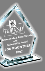 Joe Rountree, only recipient, thus far, to ever receive this historic award - Contact him now